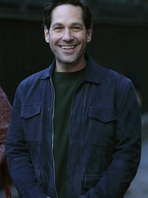 Paul Rudd Living With Yourself Blue Leather Jacket