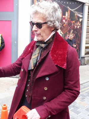 Peter Capaldi The Personal History of David Copperfield Maroon Wool Coat