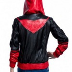 Red and Black Ruby Rose Leather Jacket