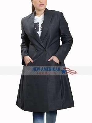 CAITRIONA BALFE OUTLANDER BLACK COAT