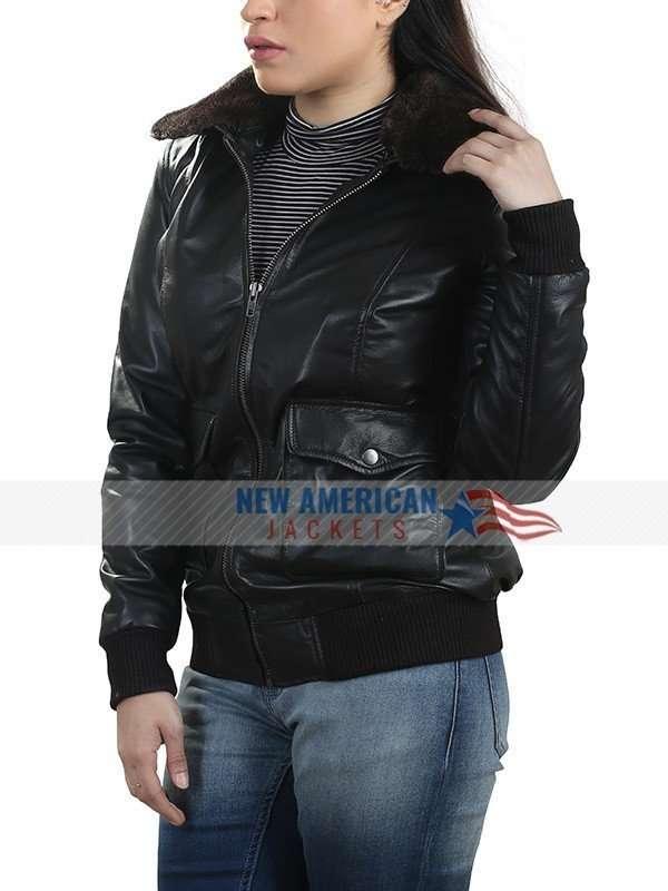 Kristen Stewart Brown Fur Collar Jacket