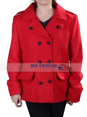 BROOKE D ORSAY CHRISTMAS IN LOVE RED COAT