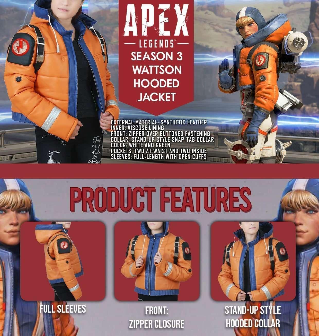 Wattson Apex Legends Orange Jacket