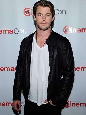 Chris Hemsworth Black Jacket