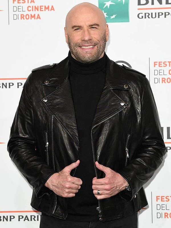 Actor John Joseph Travolta Leather Jacket