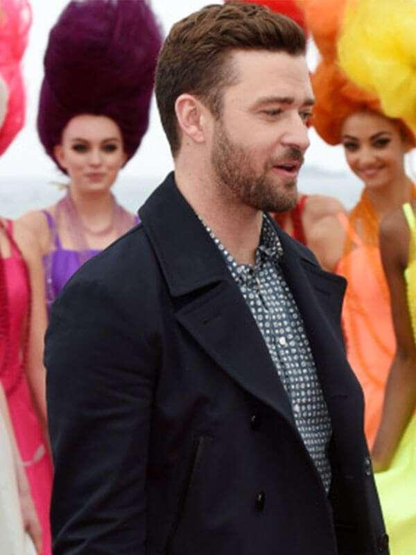 Actor Justin Timberlake Black Jacket