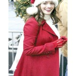 Actress Anne Hathaway Christmas Coat