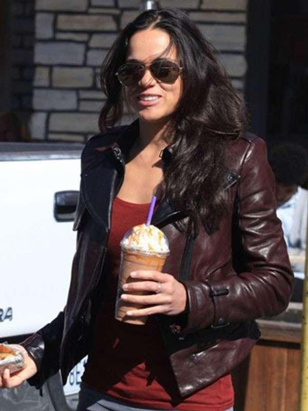 Actress Mayte Michelle Rodríguez Leather Jacket