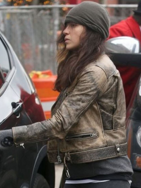 Actress Michelle Rodriguez Beverly Hills Leather Jacket