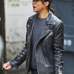 Actress Michelle Rodriguez Leather Jacket