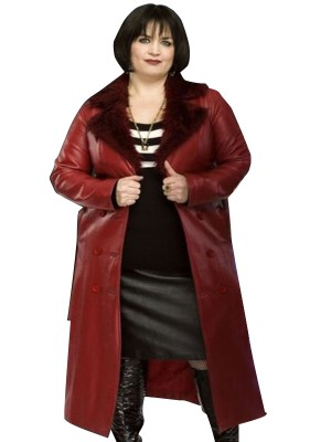 Gavin & Stacey Ruth Jones Fur Collar Red Coat