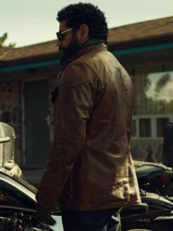 American Gods SO2 The Jinn Brown Leather Jacket