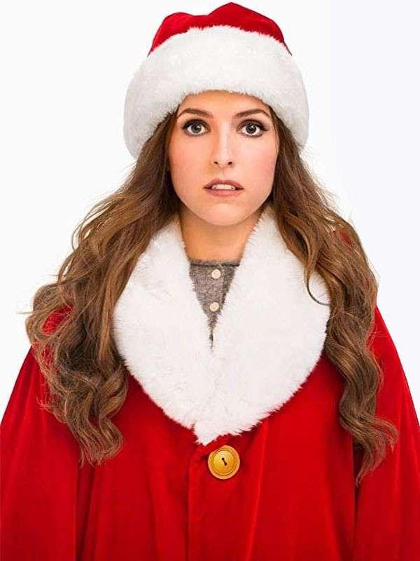 Anna Kendrick Noelle Shearling Christmas Coat