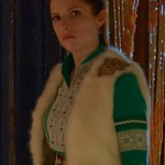 Anna Kendrick White Shearling Vest