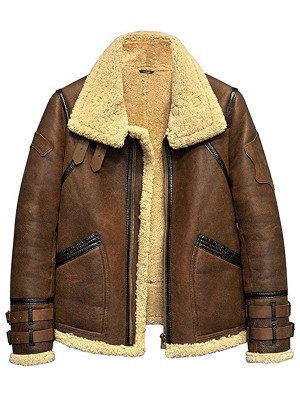 Men's Flight Aviator B3 Shearling Leather Jacket