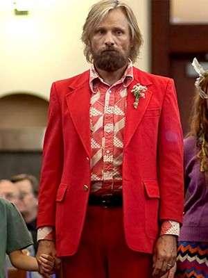 Viggo Mortensen Red Tuxedo Suit
