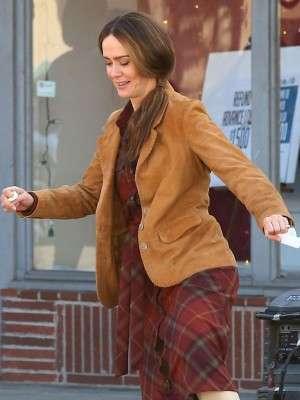 Sarah Paulson Bird Box Jessica Blazer coat