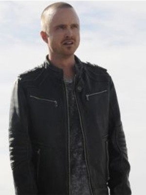 Aaron Paul Breaking Bad Black Leather Jacket