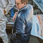Carroll Shelby Ford v Ferrari Blue Jacket