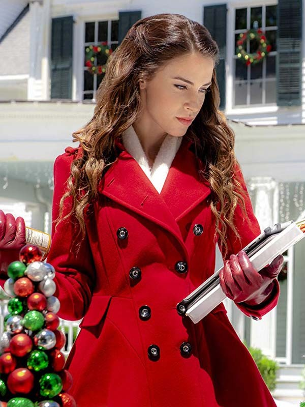 Christmas at Pemberley Manor Jessica Lowndes Red Coat