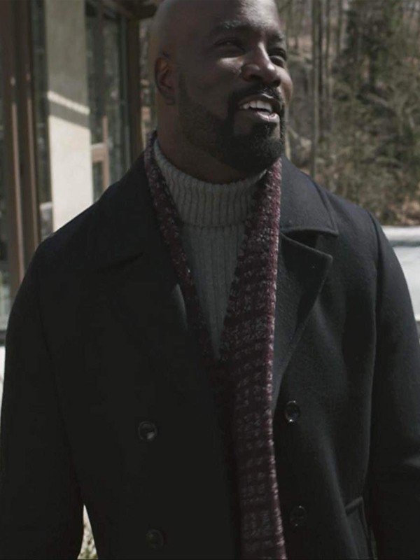 Evil Mike Colter BWool Coat