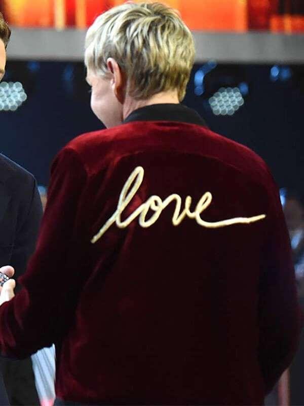 Ellen DeGeneres Love Varsity Jacket