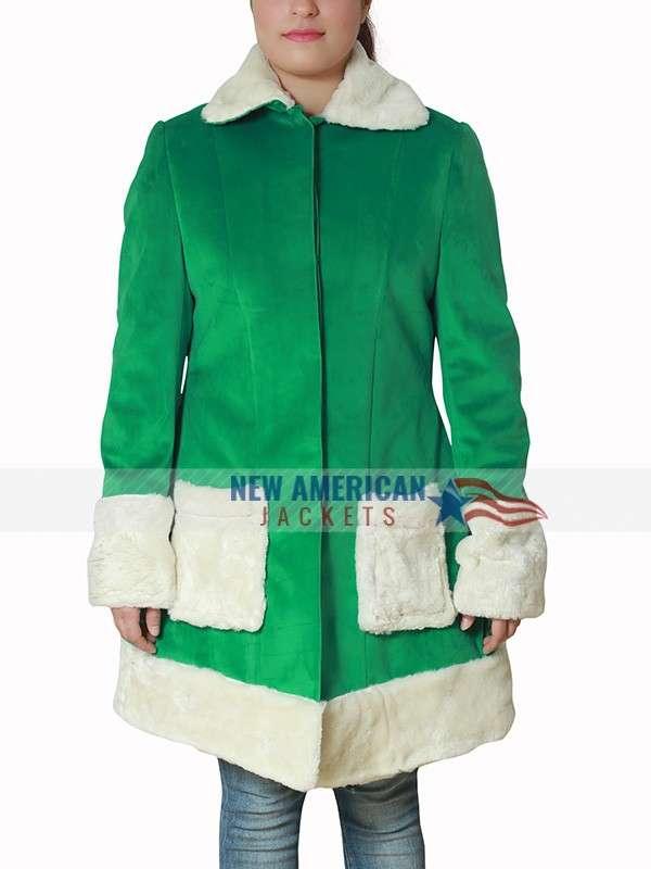 Emilia Clarke Last Christmas Shearling Coat