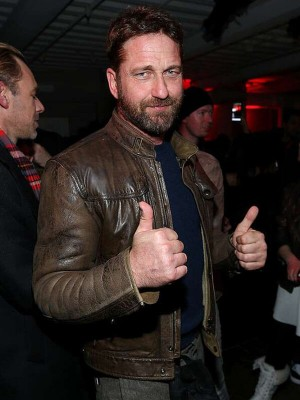Gerard Butler Distressed Leather Jacket
