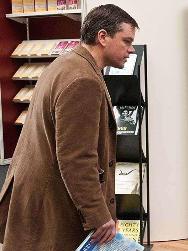 Hereafter Matt Damon Brown Coat