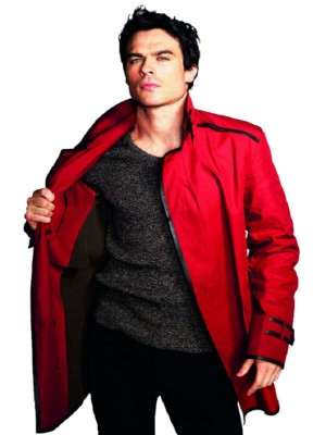 Ian Somerhalder Stand up collar casual jacket