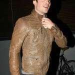 Ian Somerhalder slimfit Leather Jacket