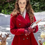 Jessica Lowndes Christmas at Pemberley Manor Trench Coat