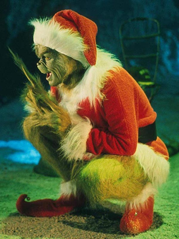 Jim Carrey How the Grinch Stole Christmas Red Coat