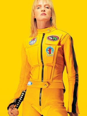Kill Bill 2 Bride Uma Thurman Yellow Motorcycle Jacket