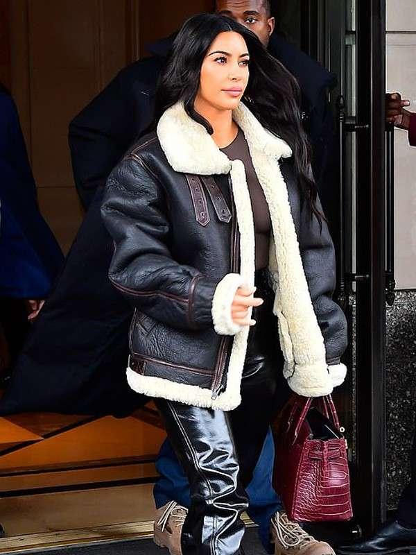 Kim Kardashian Shearling Jacket