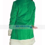 Last Christmas Green Shearling Coat