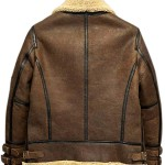 Mens Aviator B3 Flight Bomber Shearling Jacket