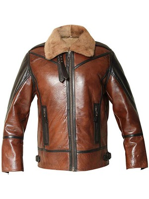B3 Bomber Sheepskin Leather Jacket for Men