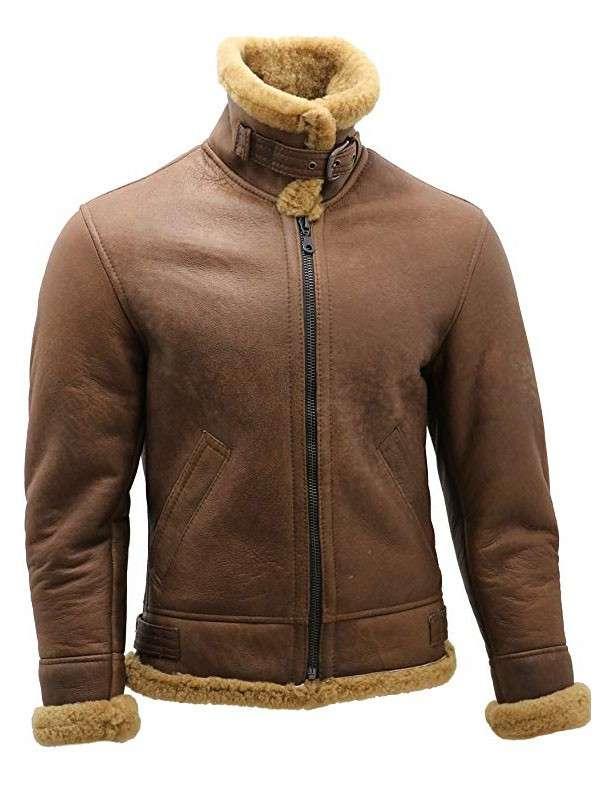Mens B3 Bomber Leather Jacket