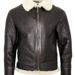 Mens Infinty B3 Bomber Fur Shearling Jacket