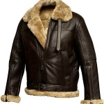 Mens RAF Aviator Sheepskin Shearling Leather Jacket