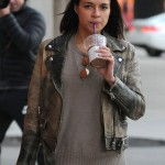 Michelle Rodriguez Beverly Hills Brown Distressed Jacket