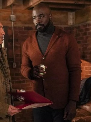 Mike Colter Evil TV Series Brown Wool Coat