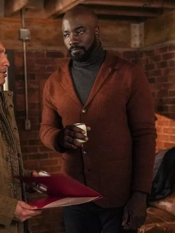 Mike Colter Evil Brown Wool Coat