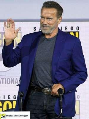 Film Terminator Dark Fate Event Arnold Schwarzenegger Tuxedo Coat