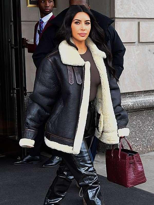 New York Kim Kardashian Shearling Jacket