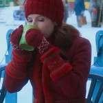 Noelle Anna Kendrick Red Wool Jacket