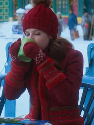Anna Kendrick Noelle Red Jacket