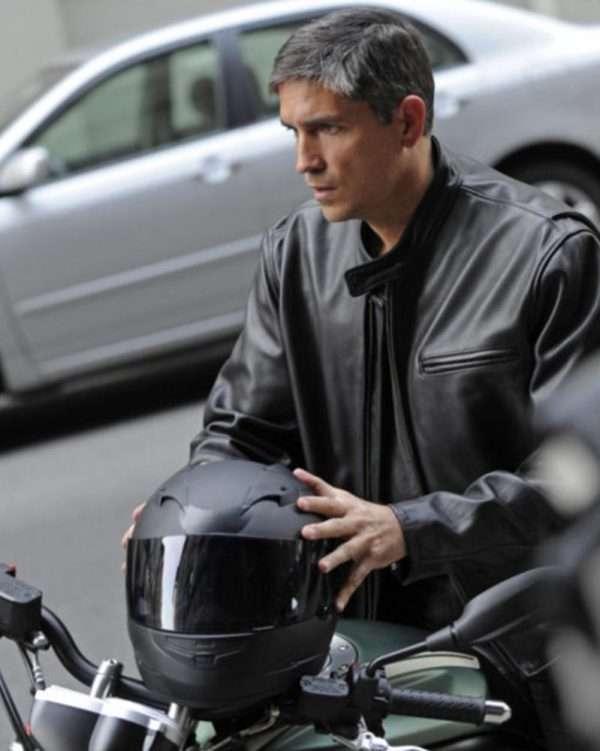 Person of Interest Jim Caviezel Black Jacket