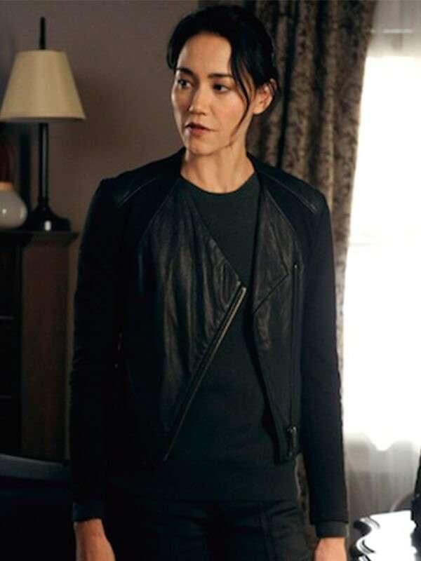Sandrine Renault Tv Series Hostages Leather Jacket